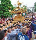 潮田神社で例大祭