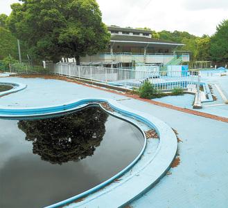 三ツ池公園のプール(神奈川県から提供)