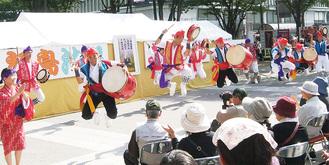 福島で歌舞団が行ったイベントの様子