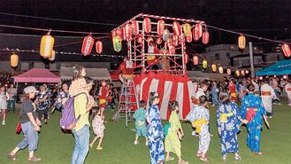 ホライゾン学園での盆踊り(昨年)