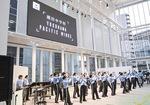 コンサートに出演した潮田中マーチングバンド