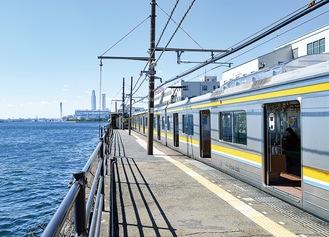 日本一海に近い「海芝浦駅」