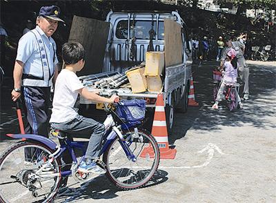 自転車事故防止に一役