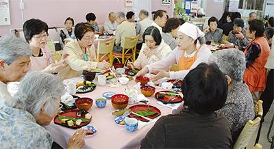 高齢者給食を開始