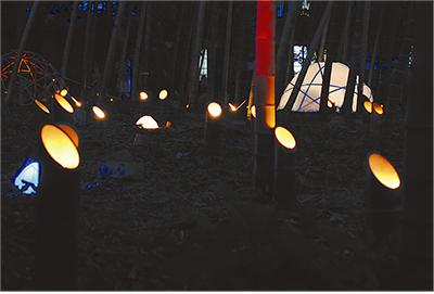 竹灯りに3千人