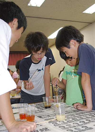 科学で小学生と交流