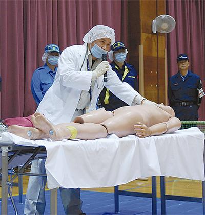 区職員集め遺体取扱訓練