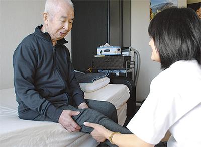 訪問は自宅療養の支え