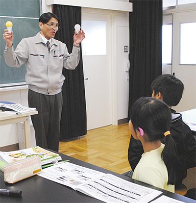 プリンス電機が「光」の授業