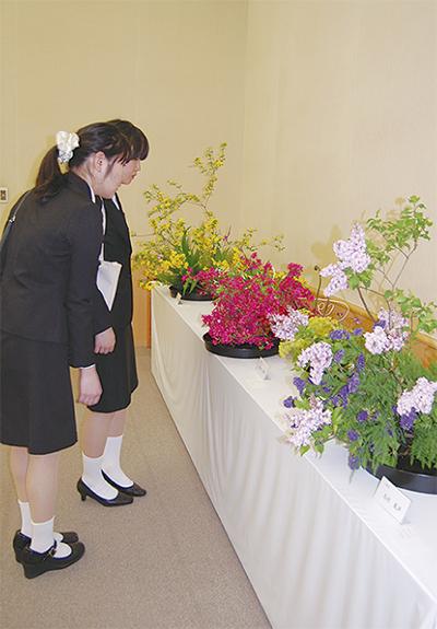 茶華道協会が春の展示