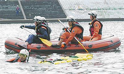 水難備え合同訓練