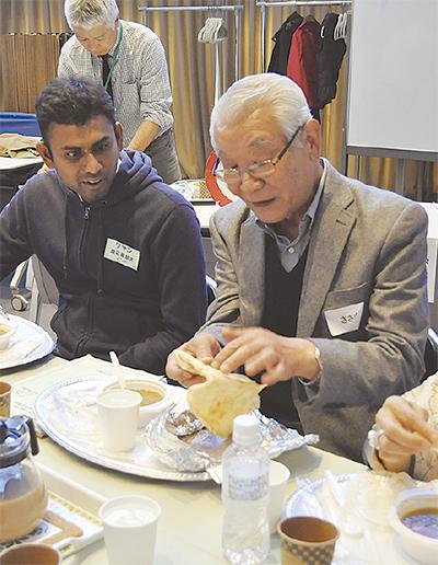 インド留学生と交流