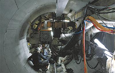 浸水防ぐ貯留管を新設中