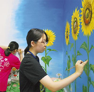 昭和大病院に壁画