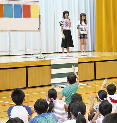 児童主体で交通安全教室