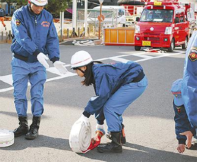 女子高生消防団員が誕生
