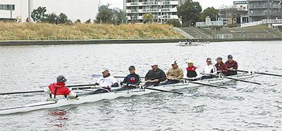 鶴見川を初漕ぎ