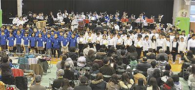 生麦・小中生ら200人共演
