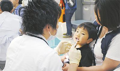 歯の健診企画 盛況に