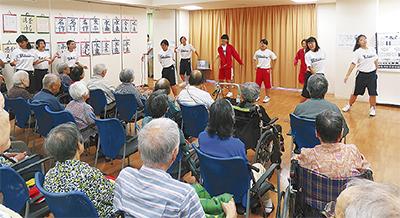 ボラ劇団、潮田中生と合同慰問
