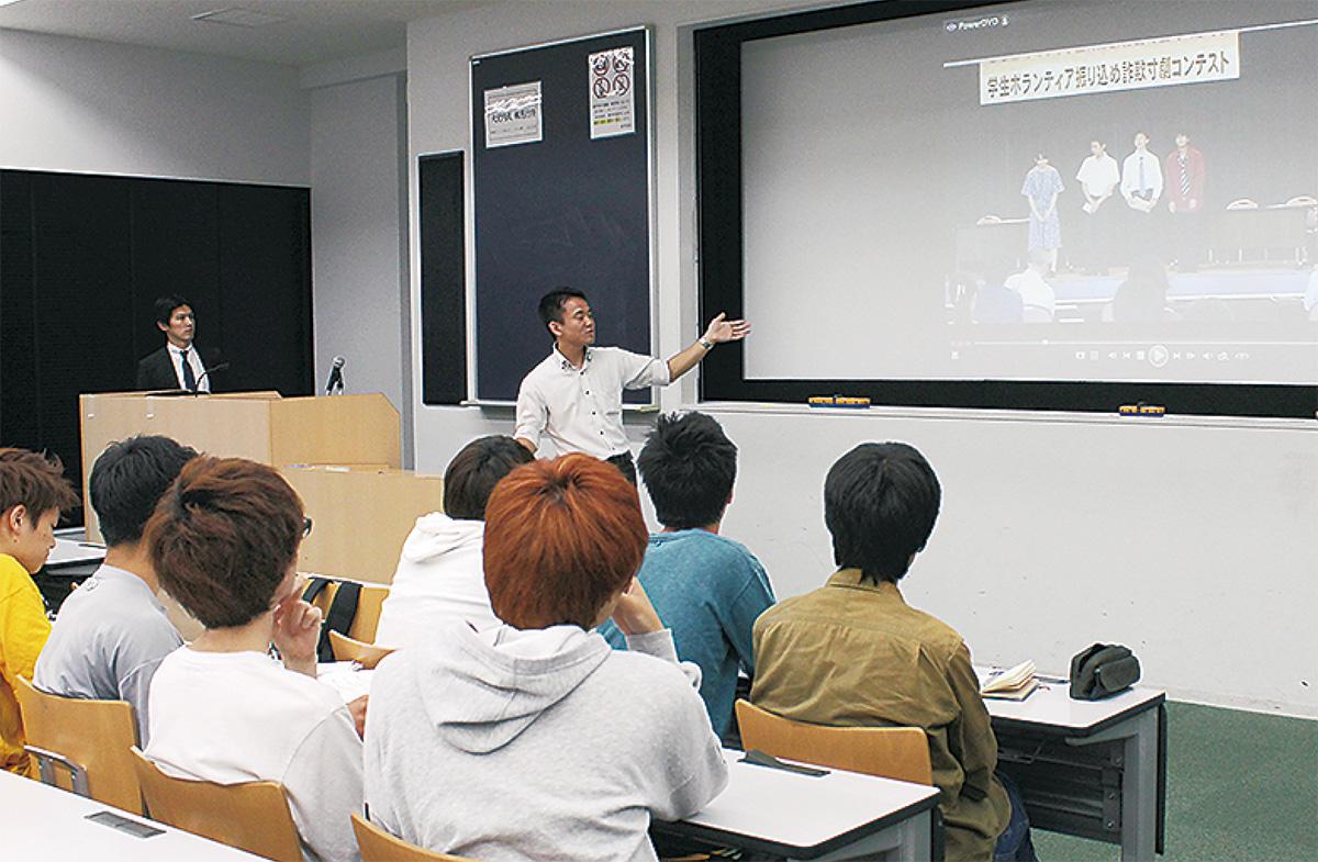 振り込め防止に学生の力