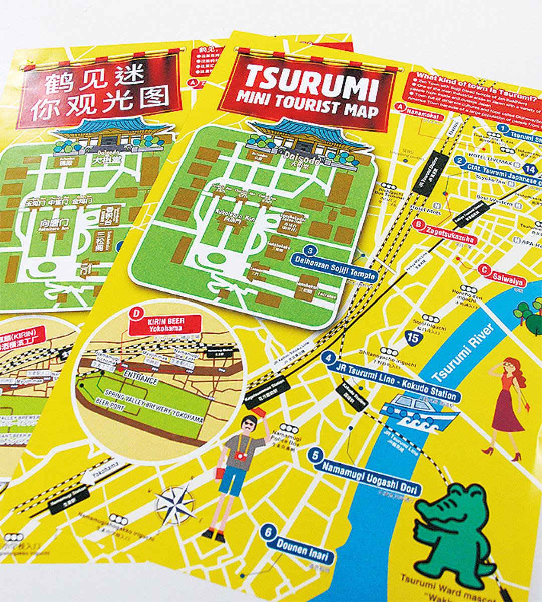 訪日外国人向けにマップ
