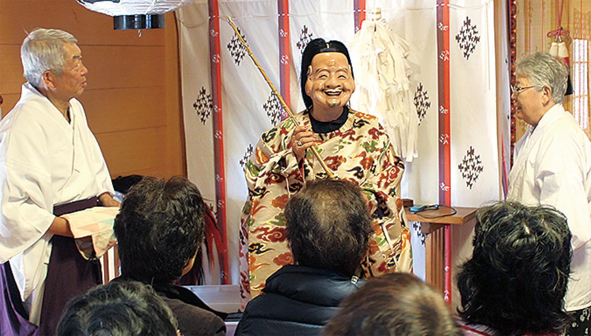 日枝神社で神楽学ぶ