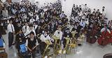 練習に励む横浜創英の吹奏楽部