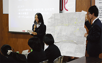 松本中は防犯マップを作った