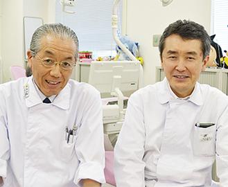 熊坂先生(左)と山内先生