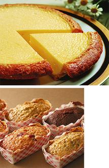 チーズケーキの他、日持ちするパウンドケーキも人気
