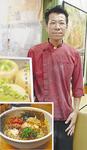 六角橋小籠包店主の高梨修平さんと肉出汁カレーそば