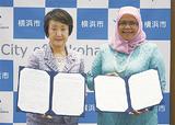 覚書に署名した林市長(左)とマイムナーセベランプライ市長