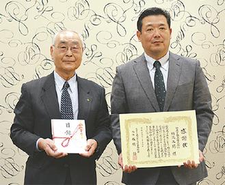 田代部長(右)と板橋会長
