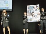 プレゼンする横浜デジタルアーツ専門学校の学生