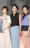 横浜美術館で行われた完成披露記者会見に顔を揃えた豪華キャスト