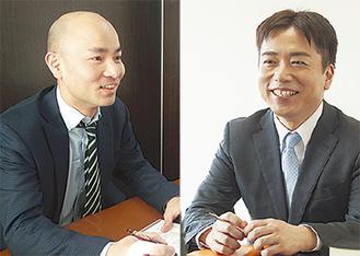 澤口さん(左)と森田さんが相談に対応