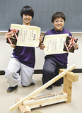 優勝した中里さん(右)と準優勝の阿左美さん