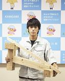 2位の成績を修めた中村さんと競技作品
