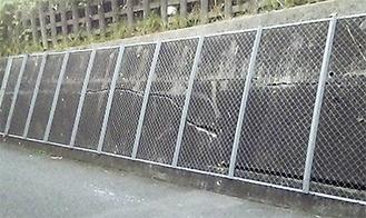 亀裂が入ったJR横浜線の擁壁