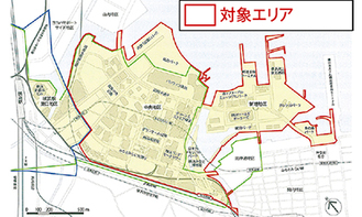 都市再生安全確保計画の対象区域(同計画冊子より)
