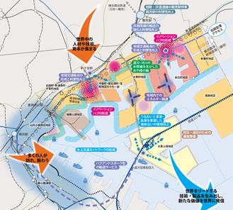 京浜臨海部の未来を描く戦略マップ