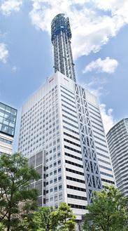 約253mの高さを誇る横浜メディアタワー