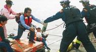 船舶火災時の水上想定訓練