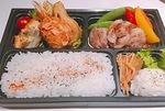 イベリコ豚を使った弁当(KUBOTA食堂提供)