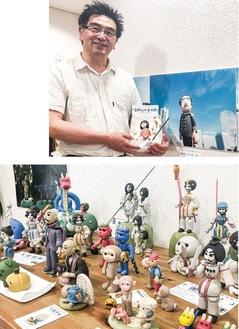 ねんど人形写真作家の渡邊さんと作品の数々