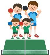 世代間交流の卓球大会