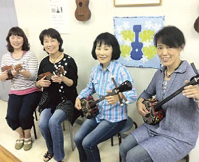 中高年のための沖縄三線&ウクレレ教室
