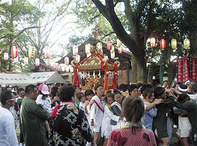 笠䅣稲荷神社で例大祭
