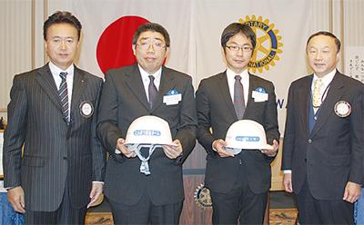 神奈川RCがヘルメット寄贈